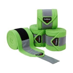 LeMieux-High-Visibility-Fleece-Polo-Bandages-Lime