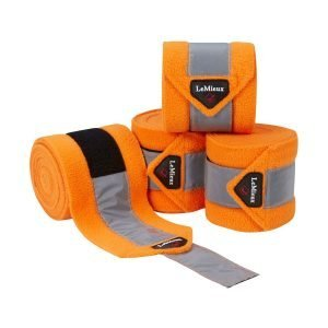 LeMieux-High-Visibility-Fleece-Polo-Bandages-Tangerine