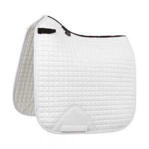 LeMieuxProSportLustreSuedeDressageSquare(D-Ring) White