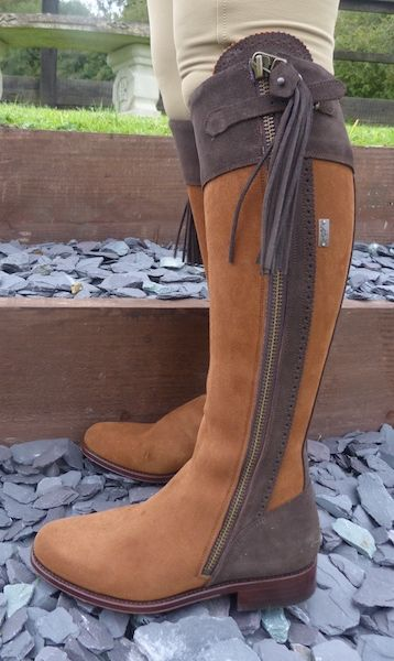 Spanish Riding Boot's Suede: Camel