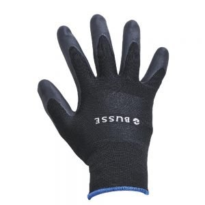 Busse Allround Winter Gloves Black Fleece Lined Rubber