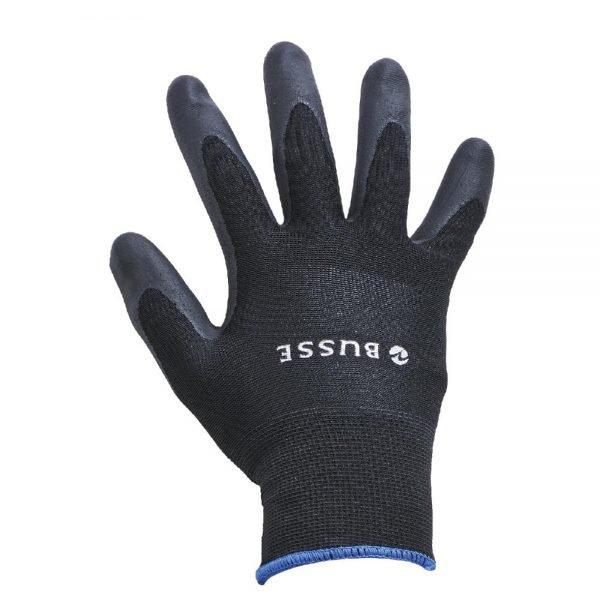 Busse Allround Winter Gloves Black Fleece Lined Rubber