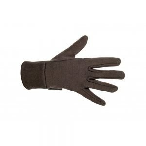 HKM Fleece Gloves Brown