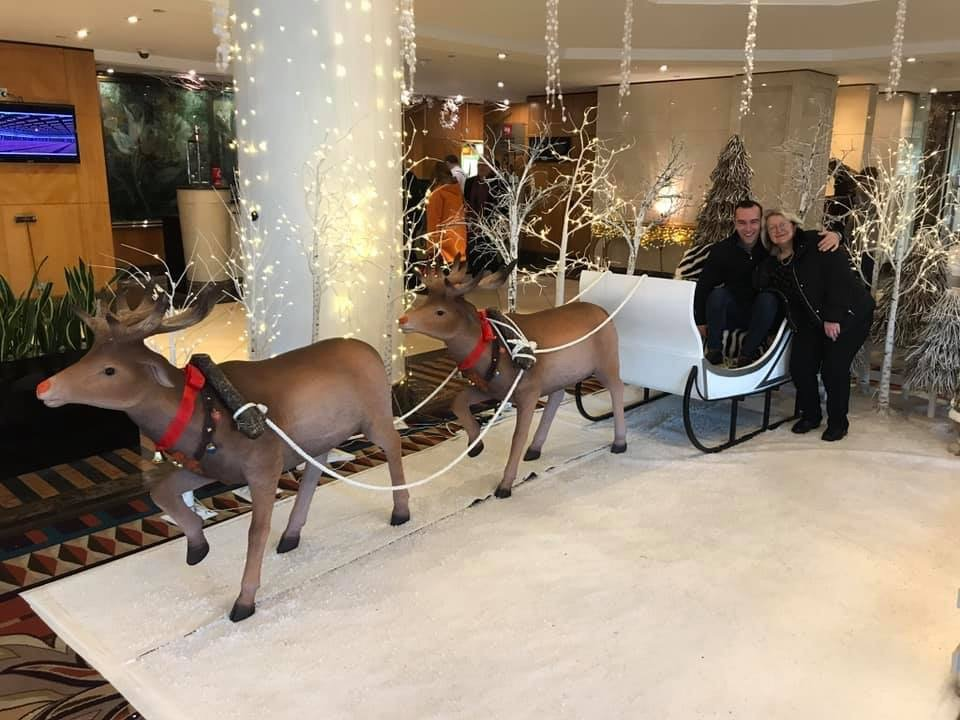 Hudson-equine-olympia-horse-show-merry-christmas-rudolph