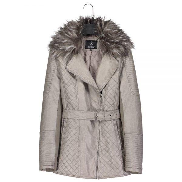 827d92d41 Rino & Pelle Leidis Ladies Faux Leather Coat: Taupe