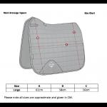 LeMieux-Carbon-Mesh-Air-Dressage-Square-Size-Guide
