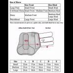 LeMieux-Prosport-Stealth-XC-Boots-Front-Size Guide