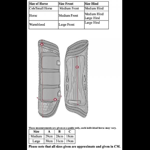 LeMieux-Shoc-Air-XC-Boots-Hind-Size-Guide