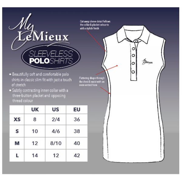 aa076cae4 ... Shirt  Khaki Sorbet. LeMieux-sleeveless-polo-khaki-sorbet4-hr.  My-LeMieux-Sleeveless-Polo-Size-Guide