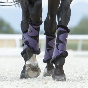 LeMieux Blackcurrant Fleece Boots-HR