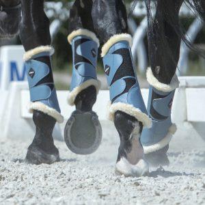 LeMieux Ice Blue Fleece Boots-HR