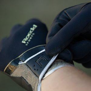 Roeckl-Madrid-Black-Gold-Riding-Gloves-Close-Up