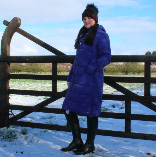 Rino-Pelle-Jackie-Long-Coat-Sapphire-Blue-Lifestyle-1