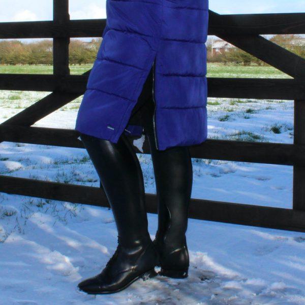Rino-Pelle-Jackie-Long-Coat-Sapphire-Blue-Lifestyle-2