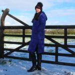 Rino-Pelle-Jackie-Long-Coat-Sapphire-Blue-Lifestyle-3