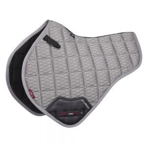 LeMieux-Carbon-Mesh-Air-Close-Contact-Half-Square-Grey