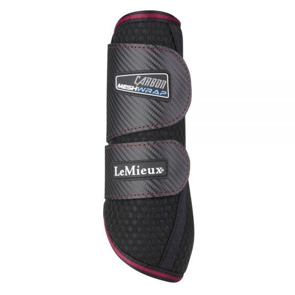 LeMieux-Carbon-Mesh-Wrap-Boots-Black-Mulberry-4