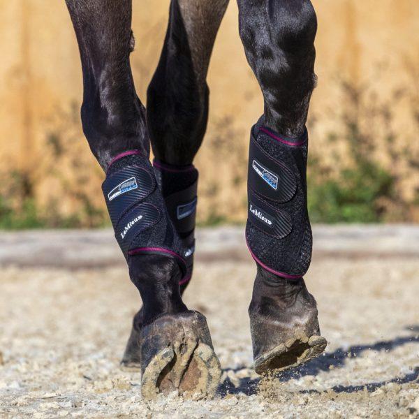 LeMieux-Carbon-Mesh-Wrap-Boots-Black-Mulberry-Lifestyle-2