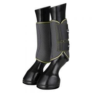 LeMieux-Carbon-Mesh-Wrap-Boots-Citron-Grey-1