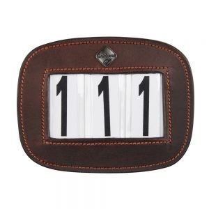 LeMieux-number-holder-rectangle-brown-hr