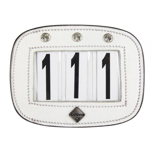 LeMieux-number-holder-rectangle-diamante-white-hr