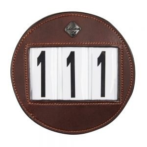 LeMieux-number-holder-round-brown-hr