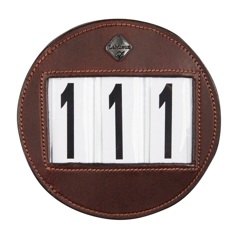 LeMieux-number-holder-round-brown-hr