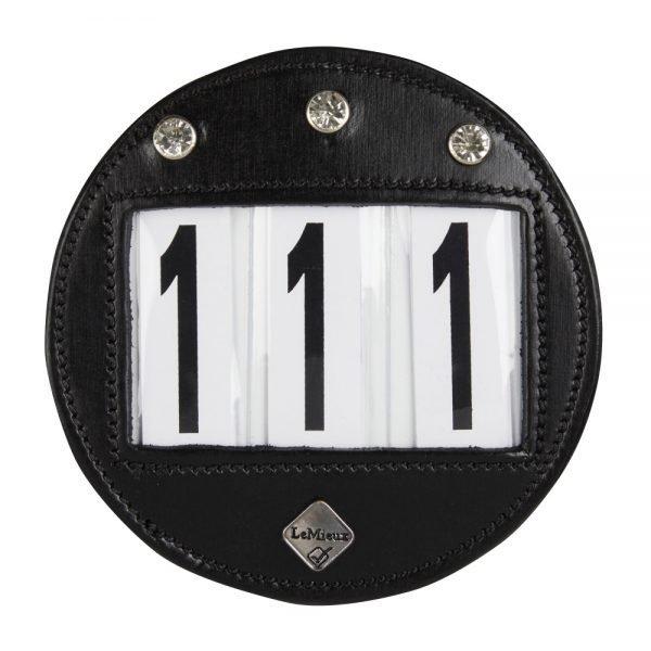 LeMieux-number-holder-round-diamante-black-hr