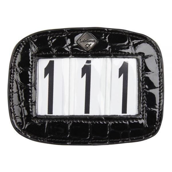 LeMieux-numberholder-croc-rectangle-black-hr