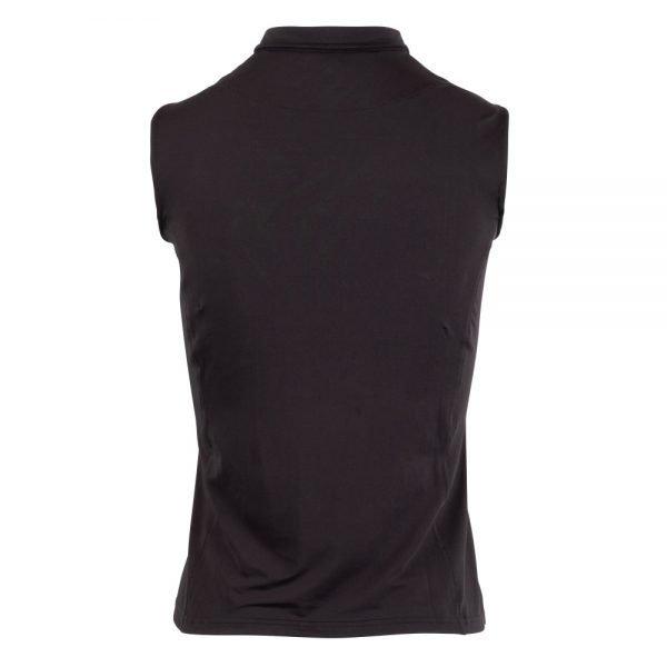Montar-Charlie-Sleeveless-Polo-Black-Back-Image