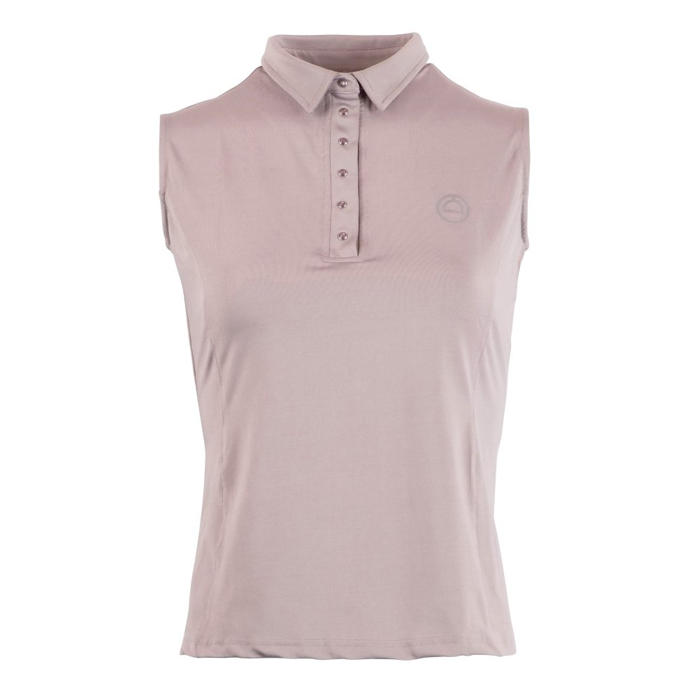 Montar-Charlie-Sleeveless-Polo-Grey-Front-Image