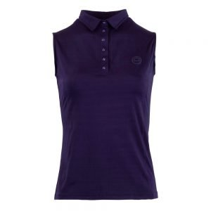 Montar-Charlie-Sleeveless-Polo-Navy-Front-Image