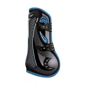 Veredus-Carbon-Gel-Vento-coloured-black-light-blue-tendon-boots