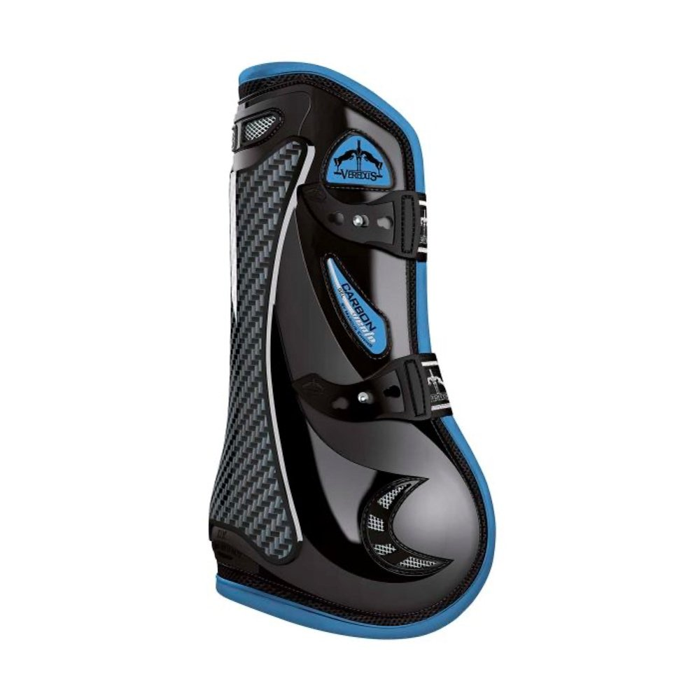 Veredus-Carbon-Gel-Vento-coloured-black-light-blue-tendon-boots