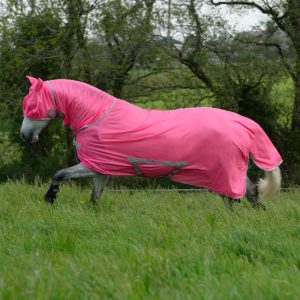 Bucas-Freedom Fly Sheet & Mask Hot Pink 434 652 P7418