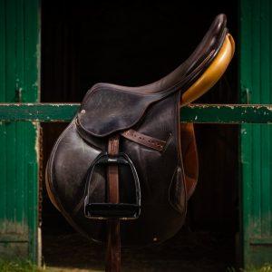 Flex-On-Hunter-Stirrups-Black-Frame-Black-Footbed-lifestyle-3