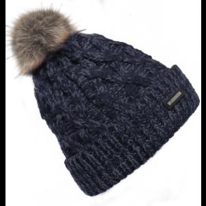 Cavallo-Raisin-Ladies-Knitted-Hat-Darkblue