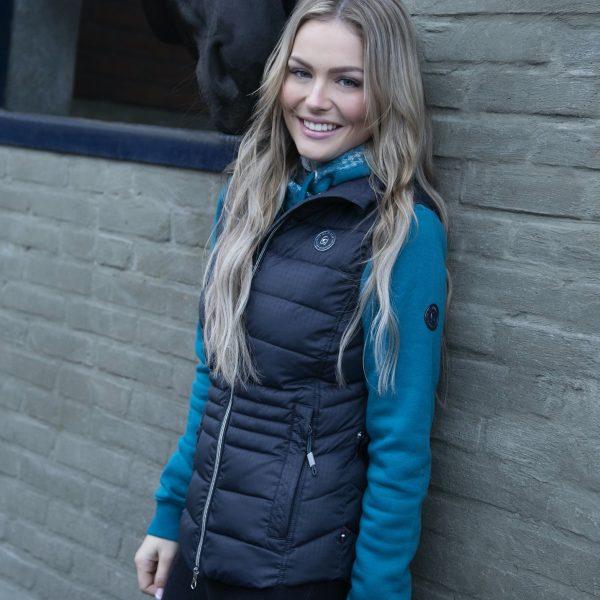 Cavallo-Ramana-Petrol-Dark-Blue-Ladies-Gilet-Lifestyle