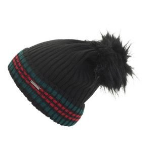 Rino-Pelle-Cato-Bobble-Hat-Black