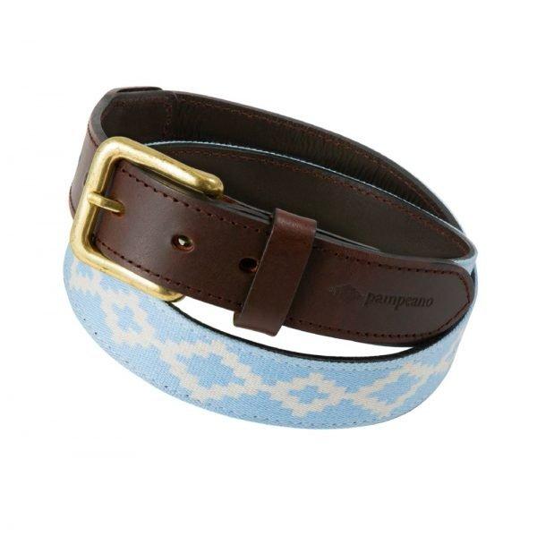 Pampeano-Concha-Polo-Belt-Light-Blue