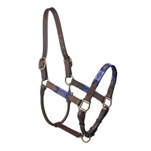 Pampeano-Pampa-Leather-Headcollar-Navy-Blue