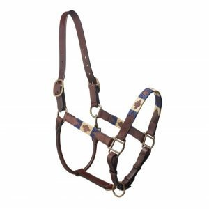 Pampeano-Pampa-Leather-Headcollar-Navy-Cream