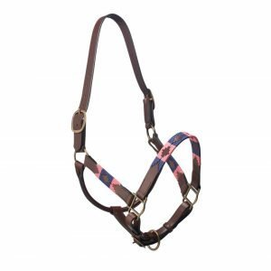 Pampeano-Pampa-Leather-Headcollar-Navy-Pink