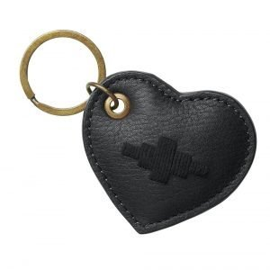 Pampeano-Vida-Heart-Key-Ring-Black