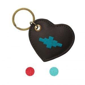 Pampeano-Vida-Heart-Key-Ring-Brown-1