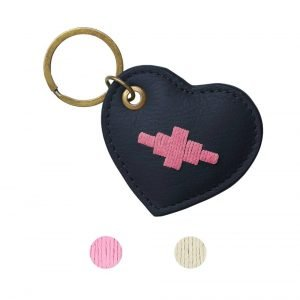 Pampeano-Vida-Heart-Key-Ring-Navy-1