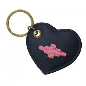 Pampeano-Vida-Heart-Key-Ring-Navy-2