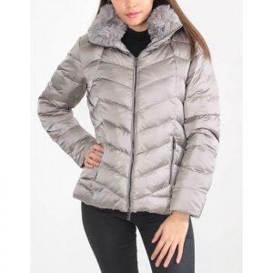Rino-Pelle-Tiz-Ladies-Quilted-Short-Coat-Moonrock-3