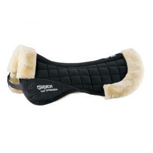 Eskadron-Faux-Fur-Saddle-Pad-Half-Pad-Black-Natural-Fur