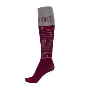Pikeur-Tube-Socks-Aubergine-Grey-Light-Aubergine